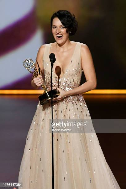 Phoebe WallerBridge accepts the Outstanding Lead Actress in a Comedy Series award for 'Fleabag' onstage during the 71st Emmy Awards at Microsoft...