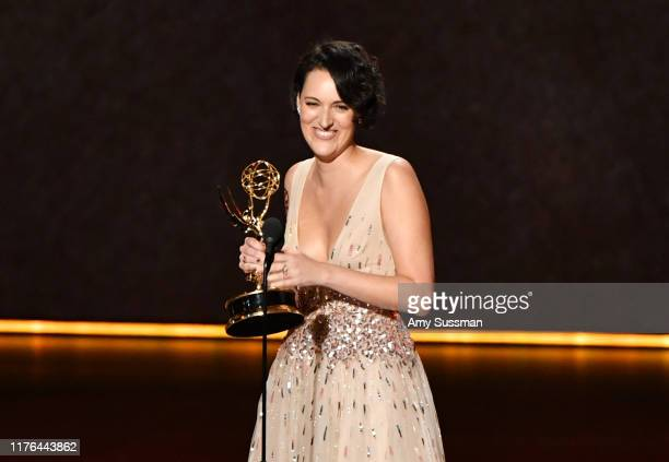 Phoebe Waller-Bridge accepts the Outstanding Writing for a Comedy Series award for 'Fleabag' onstage during the 71st Emmy Awards at Microsoft Theater...
