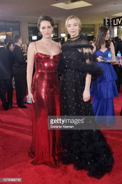 Phoebe WallerBridge and Jodie Comer attend FIJI Water at the 76th Annual Golden Globe Awards on January 6 2019 at the Beverly Hilton in Los Angeles...
