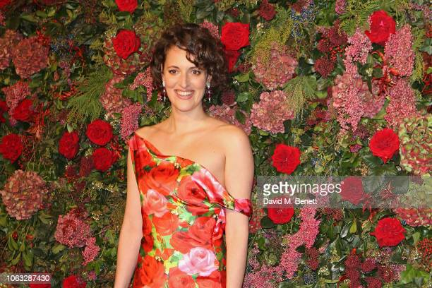 Phoebe WallerBridge arrives at The 64th Evening Standard Theatre Awards at the Theatre Royal Drury Lane on November 18 2018 in London England
