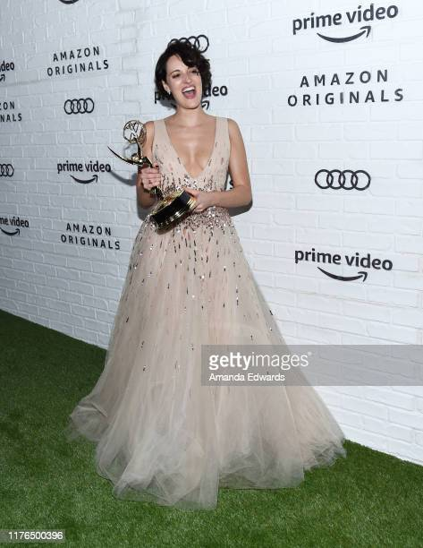 Phoebe WallerBridge arrives at the Amazon Prime Video Post Emmy Awards Party 2019 on September 22 2019 in Los Angeles California