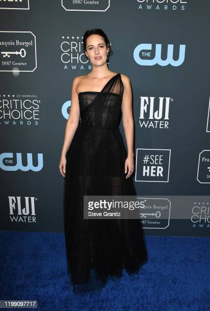 Phoebe WallerBridge attends the 25th Annual Critics' Choice Awards at Barker Hangar on January 12 2020 in Santa Monica California