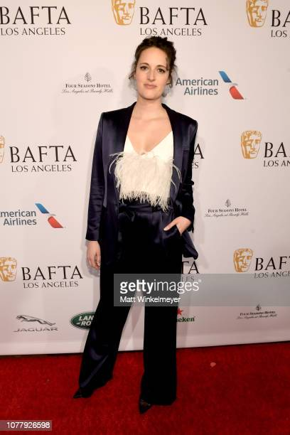 Phoebe WallerBridge attends The BAFTA Los Angeles Tea Party at Four Seasons Hotel Los Angeles at Beverly Hills on January 5 2019 in Los Angeles...