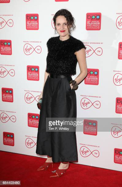 Phoebe WallerBridge attends the Broadcasting Press Guild Television Radio Awards at Theatre Royal on March 17 2017 in London England