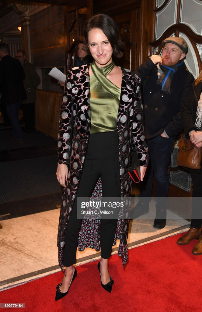 Phoebe Waller-Bridge attends the opening night of 'Hamilton' at Victoria Palace Theatre on December 21, 2017 in London, England.