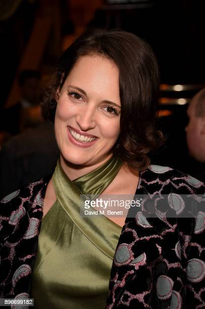 Phoebe WallerBridge attends the press night performance of 'Hamilton' at The Victoria Palace Theatre on December 21 2017 in London England