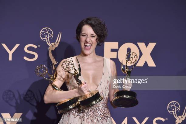 Phoebe WallerBridge attends the The 71st Emmy Awards Press Room at Microsoft Theater on September 22 2019 in Los Angeles California