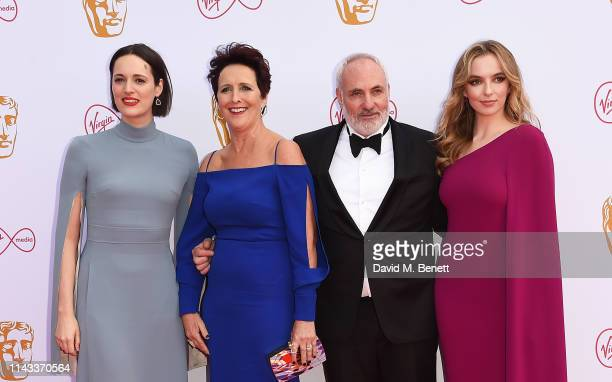 Phoebe WallerBridge Fiona Shaw Kim Bodnia and Jodie Comer attend the Virgin Media British Academy Television Awards at The Royal Festival Hall on May...