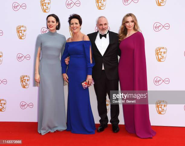 Phoebe Waller-Bridge, Fiona Shaw, Kim Bodnia and Jodie Comer attend the Virgin Media British Academy Television Awards at The Royal Festival Hall on...