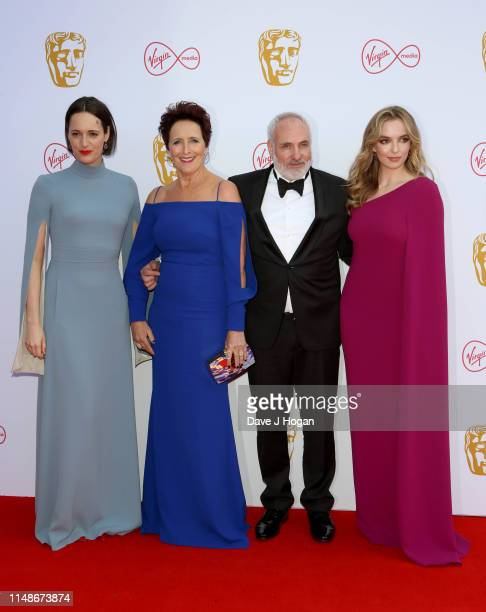 Phoebe Waller-Bridge, Fiona Shaw, Kim Bodnia and Jodie Comer attend the Virgin Media British Academy Television Awards 2019 at The Royal Festival...