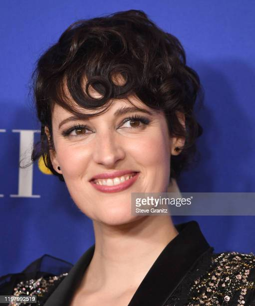 Phoebe Waller-Bridge poses in the press room at the 77th Annual Golden Globe Awards at The Beverly Hilton Hotel on January 05, 2020 in Beverly Hills,...