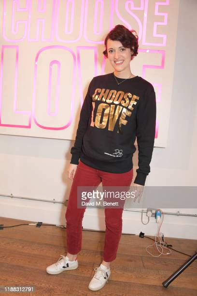 Phoebe WallerBridge volunteers during Match Fund day at the 'Choose Love' shop for Help Refugees in Covent Garden on December 13 2019 in London...