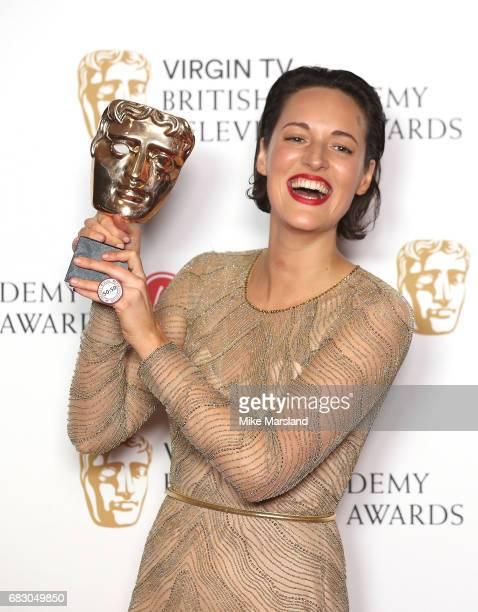 Phoebe WallerBridge winner of the Best Female Performance in a Comedy Programme for 'Fleabag' poses in the Winner's room at the Virgin TV BAFTA...