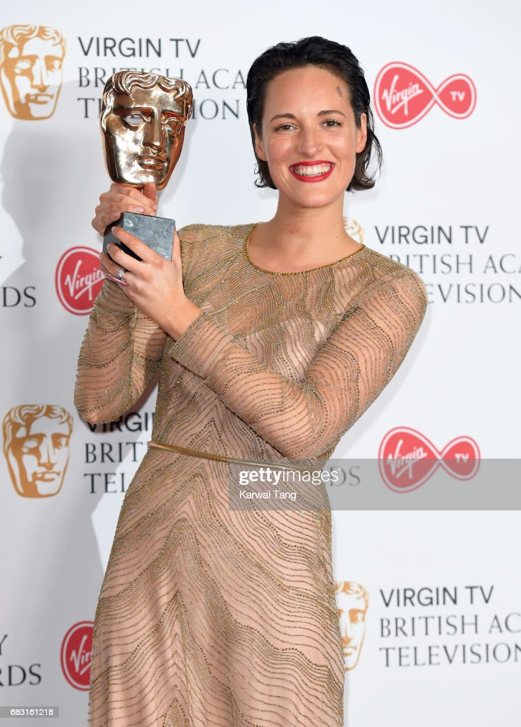 Phoebe Waller-Bridge, winner of the Best Female Performance in a Comedy Programme for 'Fleabag', poses in the Winner's room at the Virgin TV BAFTA Television Awards at The Royal Festival Hall on May 14, 2017 in London, England.