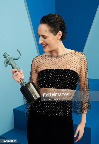 Phoebe Waller-Bridge, winner of the Outstanding Performance by a Female Actor in a Comedy Series award for 'Fleabag,' poses in the Winners' Gallery...