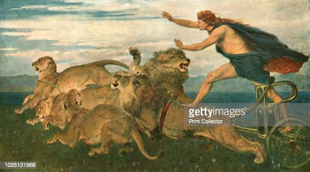 Phoebus Apollo' After a painting in the Birmingham Museums Trust collection The Ancient Greek god Apollo driving a chariot pulled by lions From The...