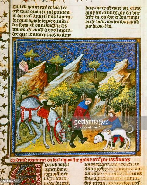 Phoebus Gaston Gaston III Phoebus Count of Foix aka Medieval Hunting Scene Deer Hunting Paris Bibliotheque nationale