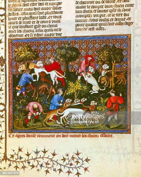 Phoebus Gaston Gaston III Phoebus Count of Foix aka Medieval Hunting Scene Paris Bibliotheque nationale