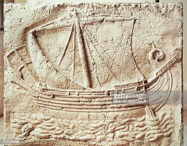 Phoenician civilization 4th century bC Relief depicting a merchant ship