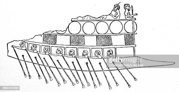 A Phoenician Ship about 700 BC From a basrelief at Nineveh