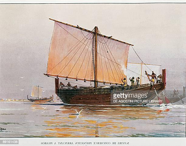 Phoenicians Phoenician merchant ship near the landing place of Pharos