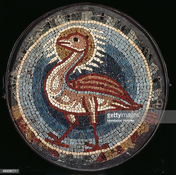 Phoenix 13th Century polychrome mosaic