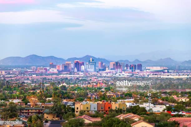 phoenix, arizona downtown skyline - phoenix arizona stock pictures, royalty-free photos & images