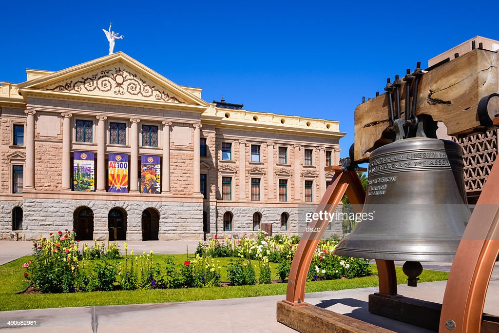 Phoenix Arizona State Capitol Building and the Liberty Bell : Stock Photo