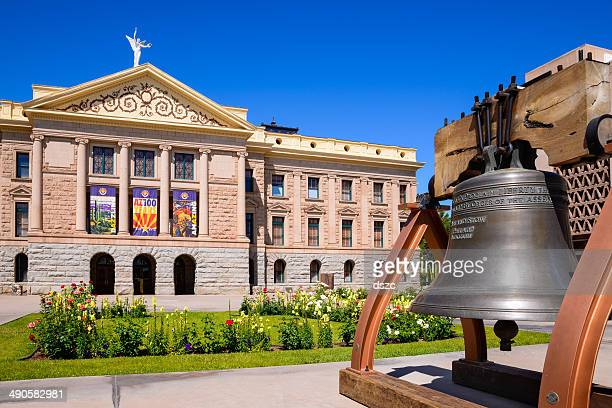 phoenix arizona state capitol building and the liberty bell - liberty bell stock pictures, royalty-free photos & images