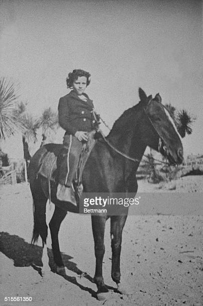 Phoenix, Arizona: This is a picture of Supreme Court nominee Sandra O'Connor around the age of 10, on her family's Lazy B ranch near Duncan, Arizona....