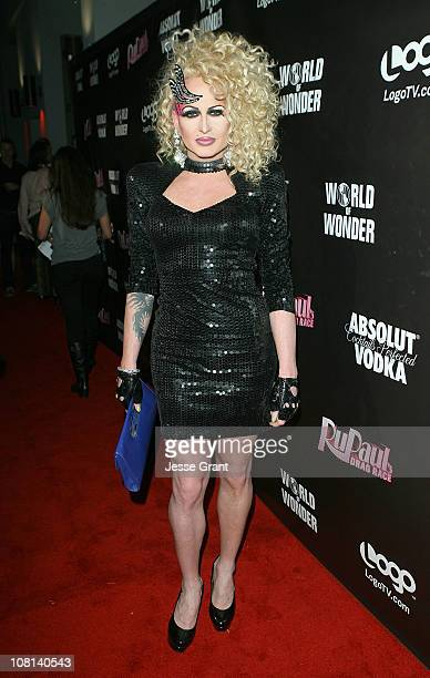 Phoenix attends RuPaul's Drag Race Season 3 Premiere Party sponsored by ABSOLUT at RAGE Nightclub on January 18 2011 in West Hollywood California