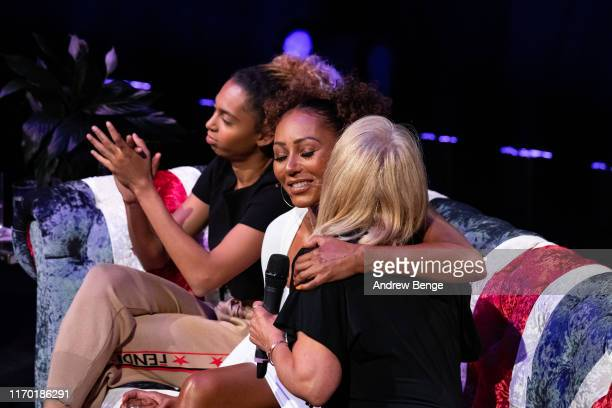 Phoenix Chi Mel B and Andrea Brown on stage during her Brutally Honest Fabulous Show at The Grand Theatre Opera House on August 25 2019 in Leeds...