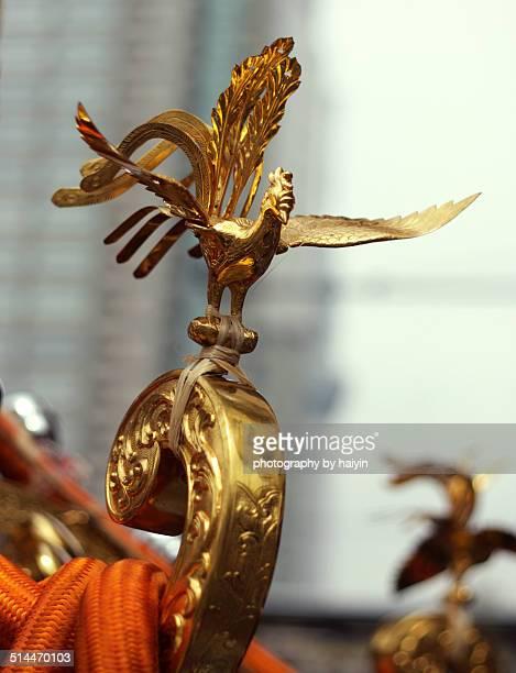 Phoenix decoration of a Mikoshi