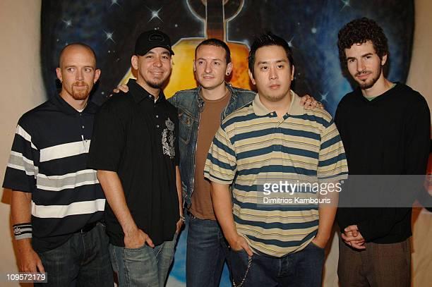 Phoenix Farrell Mike Shinoda Chester Bennington Joe Hahn and Brad Delson of Linkin Park