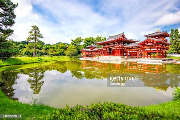 Phoenix Hall Landmark of Byodoin Temple in Summer, Uji , Kyoto, Japan