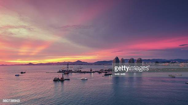 phoenix island, sanya, china - haikou stock pictures, royalty-free photos & images
