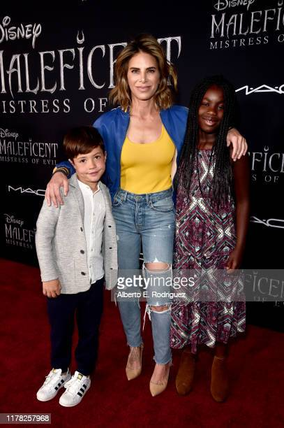 Phoenix Michaels Rhoades Jillian Michaels and Lukensia Michaels Rhoades attend the World Premiere of Disney's Maleficent Mistress of Evil at the El...