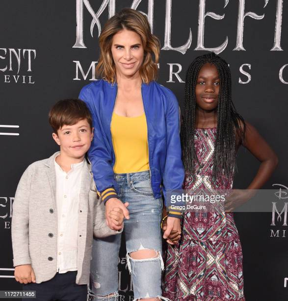 Phoenix Michaels Rhoades Jillian Michaelsand Lukensia Michaels Rhoades arrive at the World Premiere Of Disney's Maleficent Mistress Of Evil at El...