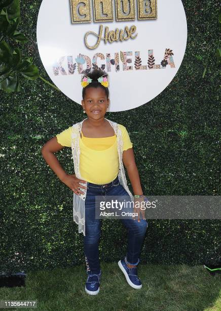 Phoenix Shelton arrives for Clubhouse Kidchella held at Pershing Square on April 6 2019 in Los Angeles California