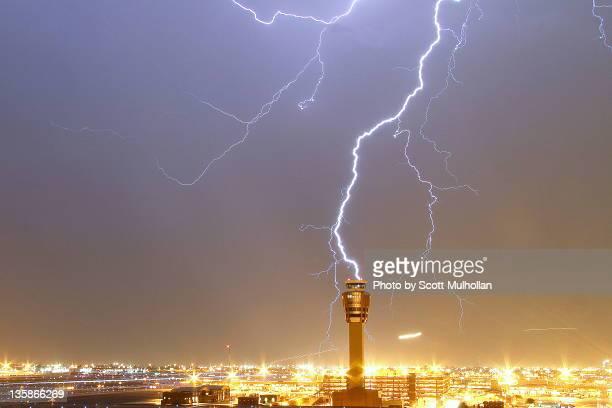 Phoenix sky harbor during lightning storm