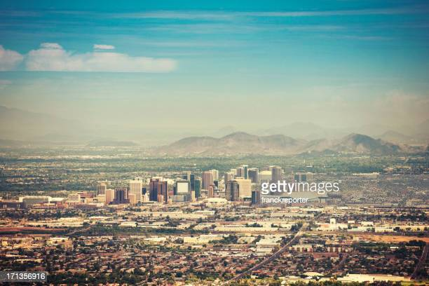 Vue sur la ville de Phoenix, au crépuscule