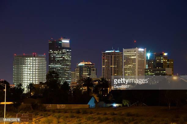 Vue sur la ville de Phoenix, de nuit