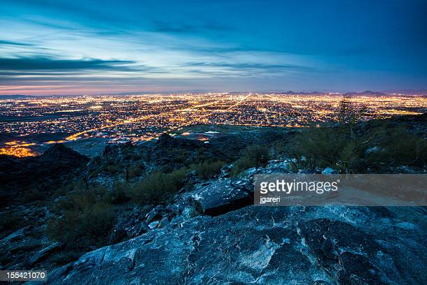 phoenix skyline - phoenix arizona stock photos and pictures