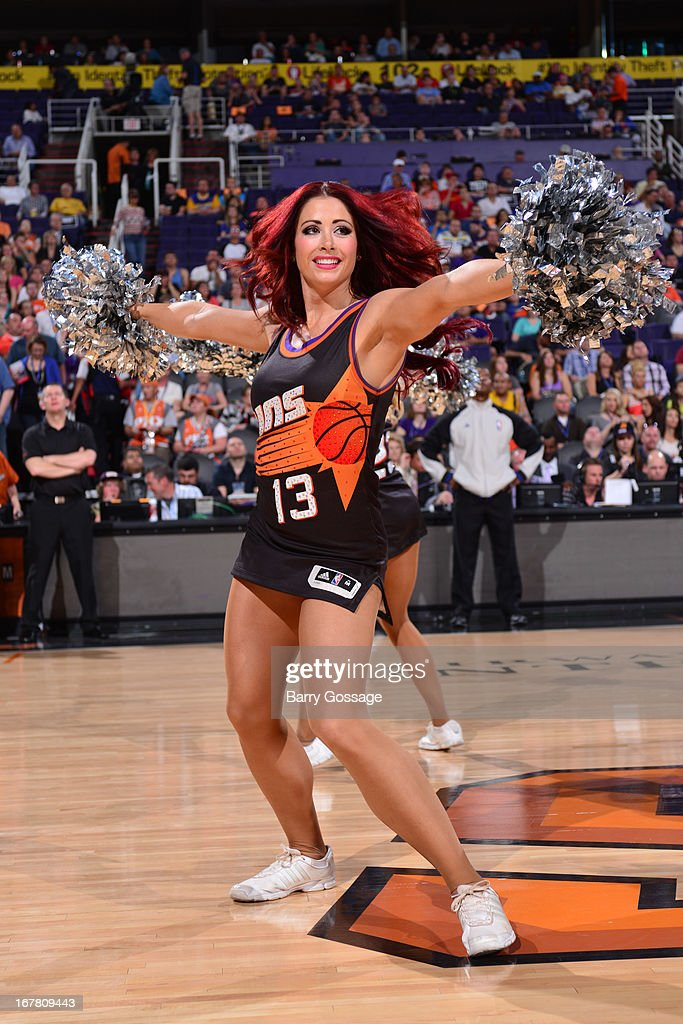 Phoenix Suns dance teams performs before the game against the Indiana Pacers on March 30, 2013 at U.S. Airways Center in Phoenix, Arizona.