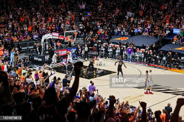 Phoenix Suns fans react to a basket during the third quarter in game two of the NBA Western Conference finals against the LA Clippers at Phoenix Suns...