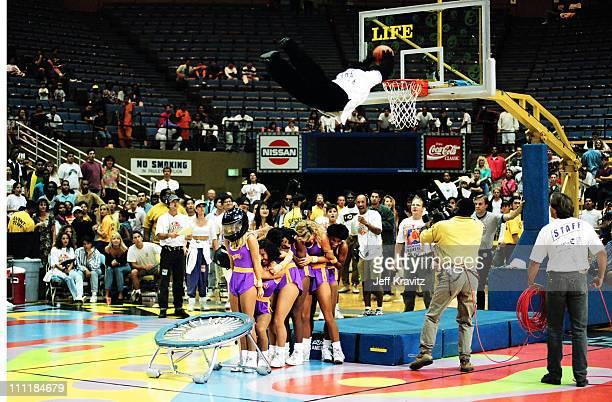 Phoenix Suns Gorilla Mascot during 1992 MTV Rock n Jock Basketball at Bren Center in Irvine California United States