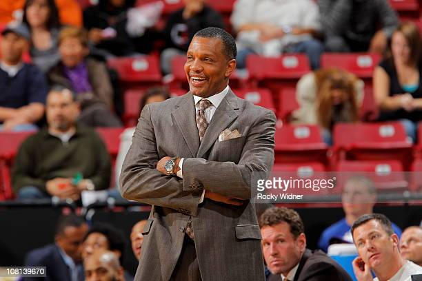 Phoenix Suns head coach Alvin Gentry watches the action from the sideline against the Sacramento Kings on January 2 2011 at ARCO Arena in Sacramento...