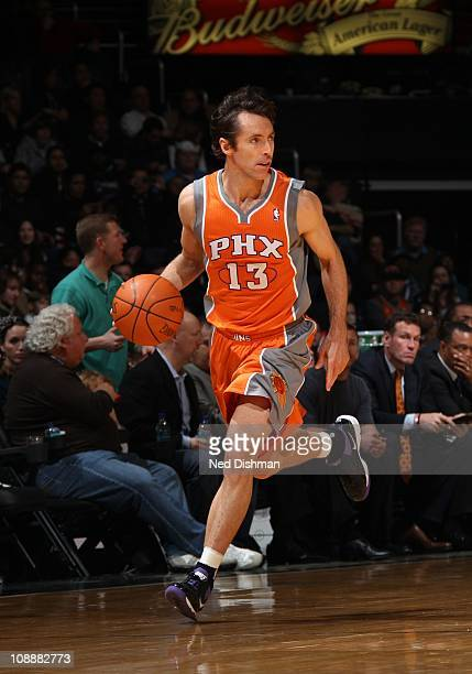 Phoenix Suns point guard Steve Nash drives to the basket during the game against the Washington Wizards at the Verizon Center on January 21 2011 in...