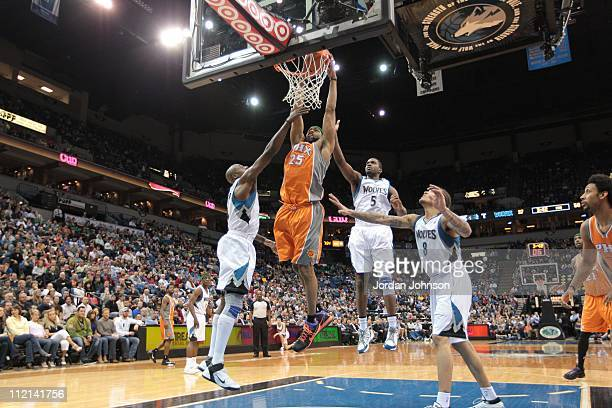 Phoenix Suns shooting guard Vince Carter goes to the basket during the game against the Minnesota Timberwolves on April 6, 2011 at Target Center in...