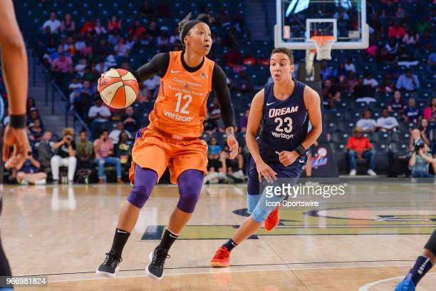 Phoenix's Briann January looks towards the basket during the WNBA game between Atlanta and Phoenix on June 3 2018 at Hank McCamish Pavilion in...